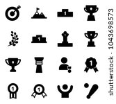 solid vector icon set   target... | Shutterstock .eps vector #1043698573