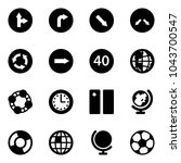 solid vector icon set   only... | Shutterstock .eps vector #1043700547
