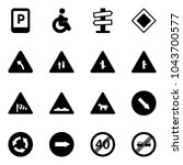 solid vector icon set   parking ... | Shutterstock .eps vector #1043700577
