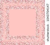 pink gold glitter. square... | Shutterstock .eps vector #1043704147