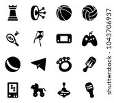 solid vector icon set   chess... | Shutterstock .eps vector #1043706937