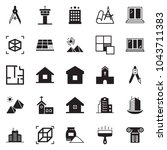 solid black vector icon set  ... | Shutterstock .eps vector #1043711383