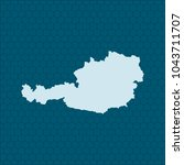 map of austria | Shutterstock .eps vector #1043711707