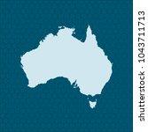 map of australia | Shutterstock .eps vector #1043711713