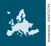 map of europe | Shutterstock .eps vector #1043711743