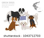 dogs by country of origin.... | Shutterstock .eps vector #1043712703
