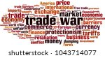 trade war word cloud concept.... | Shutterstock .eps vector #1043714077