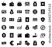 flat vector icon set   dollar... | Shutterstock .eps vector #1043719513