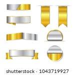 metallic ribbon banners.vector... | Shutterstock .eps vector #1043719927