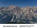 catinaccio rosengarten mountain ... | Shutterstock . vector #1043721277