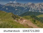 catinaccio rosengarten mountain ... | Shutterstock . vector #1043721283