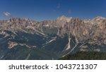 catinaccio rosengarten mountain ... | Shutterstock . vector #1043721307