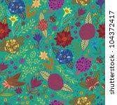 bright stylish seamless pattern ... | Shutterstock .eps vector #104372417