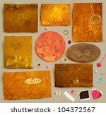 scrapbooking set. old paper...   Shutterstock .eps vector #104372567