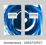 set of vector business card... | Shutterstock .eps vector #1043725927