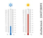 hot and cold weather...   Shutterstock .eps vector #1043728093