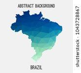 brazil map in geometric...   Shutterstock .eps vector #1043728867