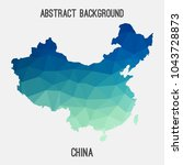 china map in geometric...   Shutterstock .eps vector #1043728873