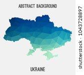 ukraine map in geometric...   Shutterstock .eps vector #1043728897