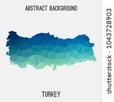turkey map in geometric...   Shutterstock .eps vector #1043728903