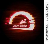 vector speedometer scale.... | Shutterstock .eps vector #1043735347