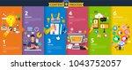 flat design concept content... | Shutterstock .eps vector #1043752057