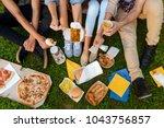 diversity of fast food. people... | Shutterstock . vector #1043756857