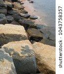 sea waves  rocks | Shutterstock . vector #1043758357