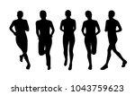 running woman silhouettes | Shutterstock .eps vector #1043759623