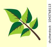 vector branch with green leaves.... | Shutterstock .eps vector #1043768113
