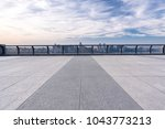 panoramic cityscape with empty... | Shutterstock . vector #1043773213