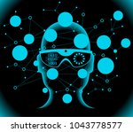 cyberspace  augmented reality ... | Shutterstock .eps vector #1043778577