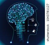 neural network. deep learning.... | Shutterstock .eps vector #1043781127