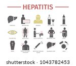 hepatitis icon infographics.... | Shutterstock .eps vector #1043782453