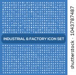 industrial icon set | Shutterstock .eps vector #1043787487