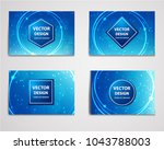 medical banner with... | Shutterstock .eps vector #1043788003