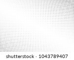 abstract halftone wave dotted... | Shutterstock .eps vector #1043789407