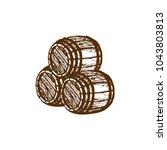 vector hand sketched wooden... | Shutterstock .eps vector #1043803813