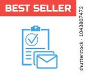 marked checklist icon. check...   Shutterstock .eps vector #1043807473