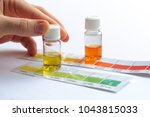 water quality testing. man... | Shutterstock . vector #1043815033