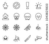 flat vector icon set   fire... | Shutterstock .eps vector #1043825833