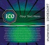 ico and token conceptual design ... | Shutterstock .eps vector #1043826397