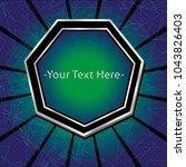 ico and token conceptual design ... | Shutterstock .eps vector #1043826403