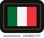 flag of italy. vector icon on...   Shutterstock .eps vector #1043831737