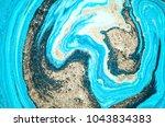 very beautiful marble art ocean ... | Shutterstock . vector #1043834383
