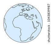 world globe icon. vector earth... | Shutterstock .eps vector #1043839987