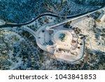 top aerial view of san luca... | Shutterstock . vector #1043841853