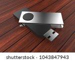 blank usb flash drive template...   Shutterstock . vector #1043847943