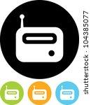 radio   vector icon isolated on ... | Shutterstock .eps vector #104385077