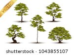 collection  beautiful tree... | Shutterstock .eps vector #1043855107